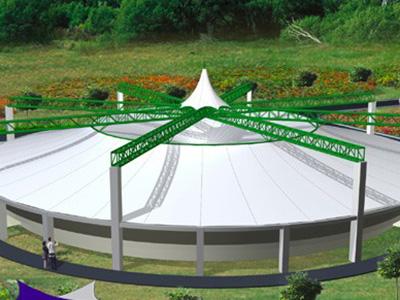 帐篷展览膜结构,软膜天花膜结构