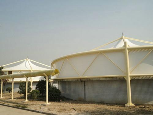污水池加盖除臭,垃圾填埋场膜结构