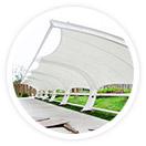 采用进口膜材设计制处理中心膜结构,物流园膜结构使得膜结构和钢结构工程成为现代化的永久建筑,美观而且耐用。